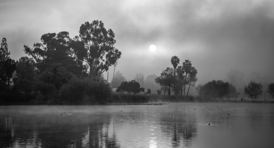 Not your typical sunrise at Lindo Lake in Lakeside, California (San Diego)