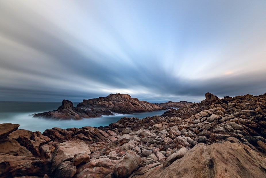 The popular Canal Rocks in the Margaret River region of SW WA.  This is a long exposure of around...