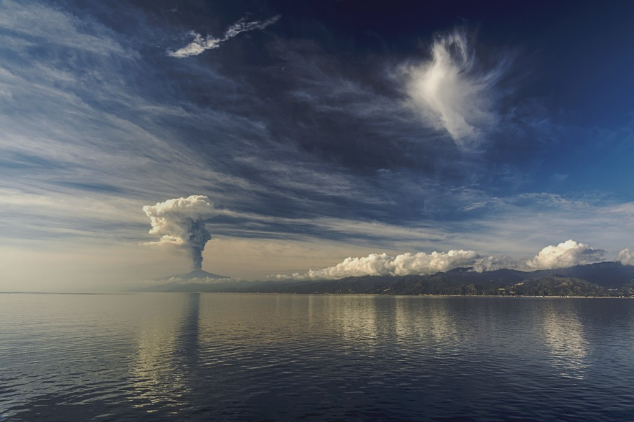 The picture is made during passing of the passage Messina.