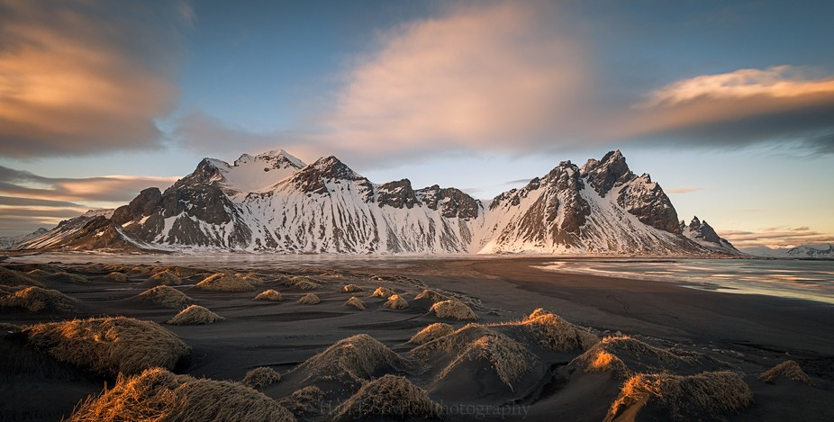 We spent part of the afternoon at Vesturhorn then left and came back near sunset to wait for the ...