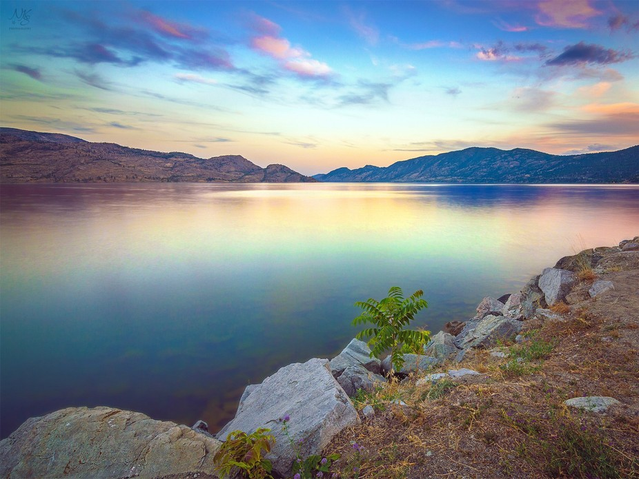First picture of the Okanagan lake BC, now that I'm living in Peachland. So worth it to ...