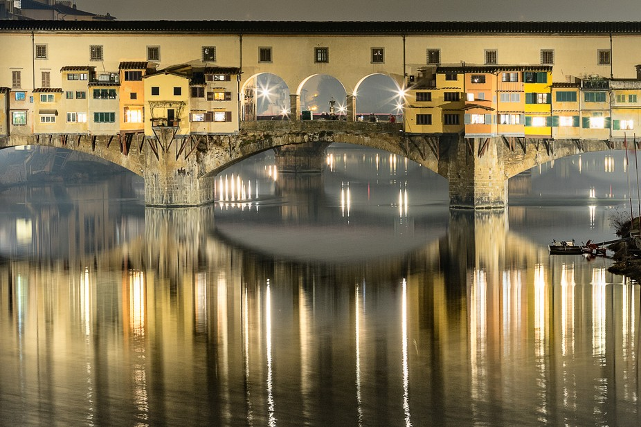 """The famous Ponte Vecchio or """"Old Bridge"""" in Italian is a must stop location for..."""