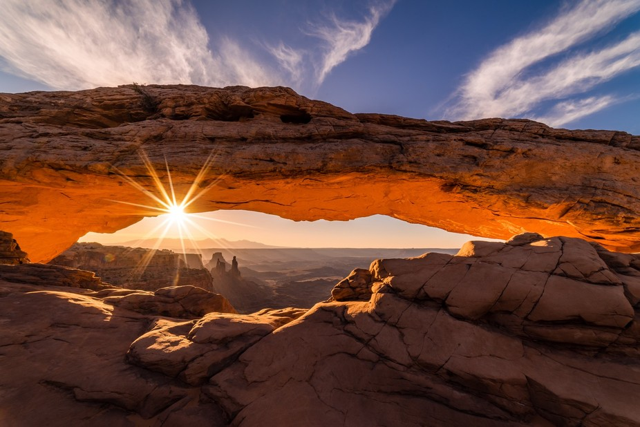 Headed out to Mesa Arch in Canyonlands, Utah at 3am just to stake out the prime spot for this sho...
