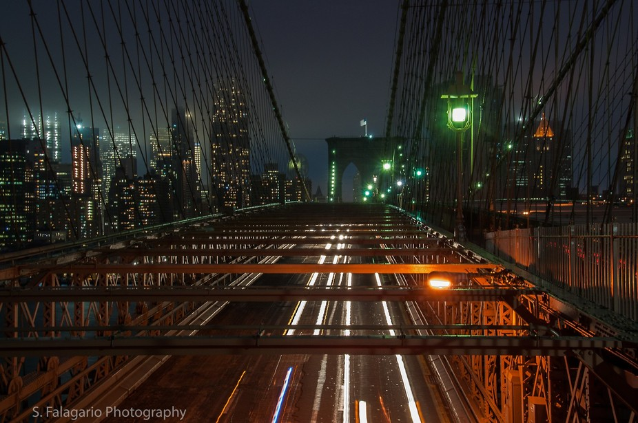 On a hazzy night in New York, I managed to take this shot from the Brooklyn Bridge. I will admit,...