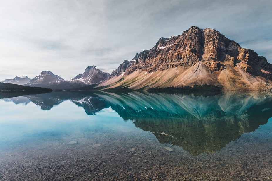I took this capture of the rarely calm Bow Lake in Banff National Park this past week while on a ...