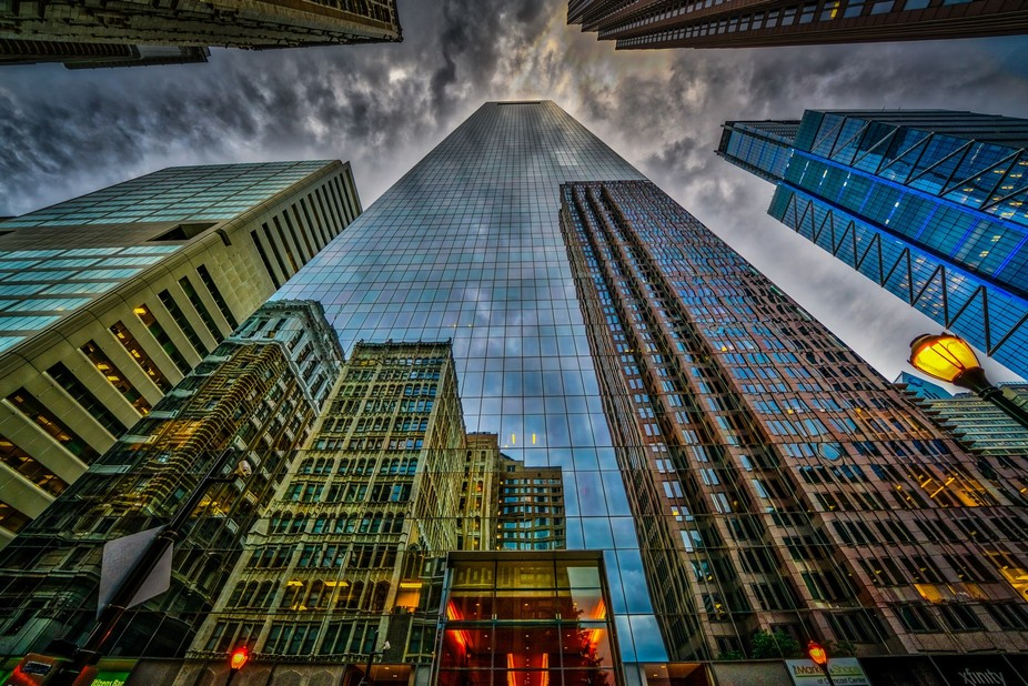 Reflections in mirrors show you what things are. The reflections in this building show you the bu...