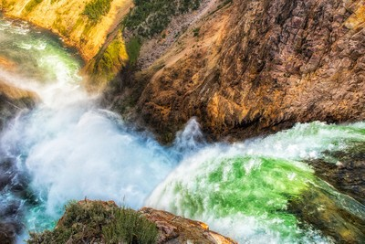The Brink of Lower Falls of the Yellowstone