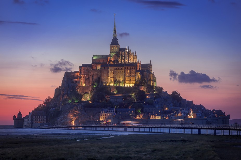 Saint Michel by sunset, medieval and beautiful place