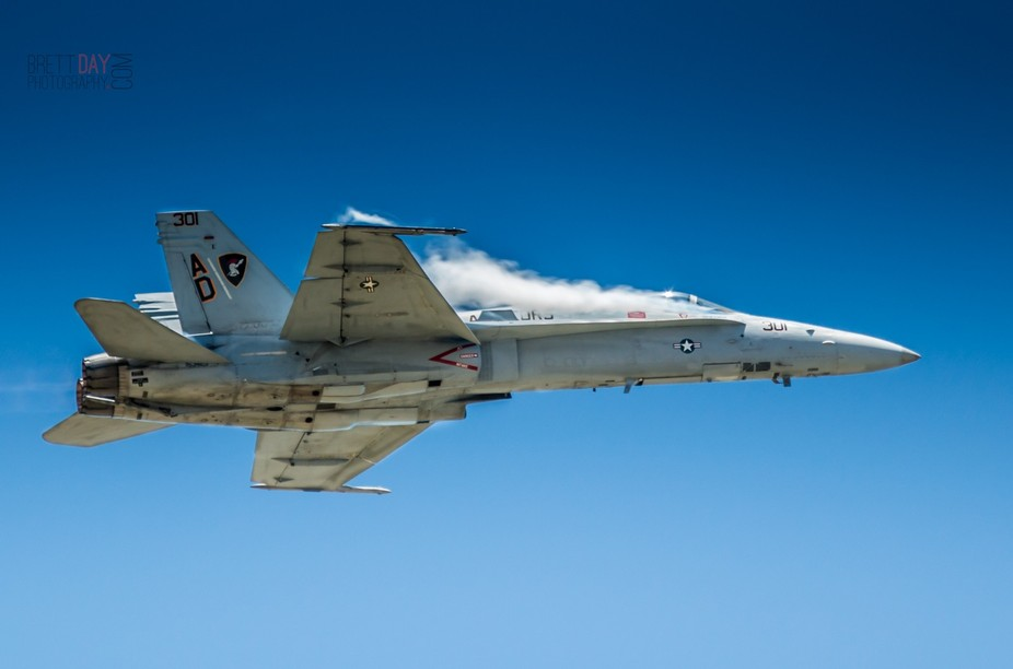 An F15 Eagle performing a low altitude, high speed pass during the Oklahoma City air show at Tink...