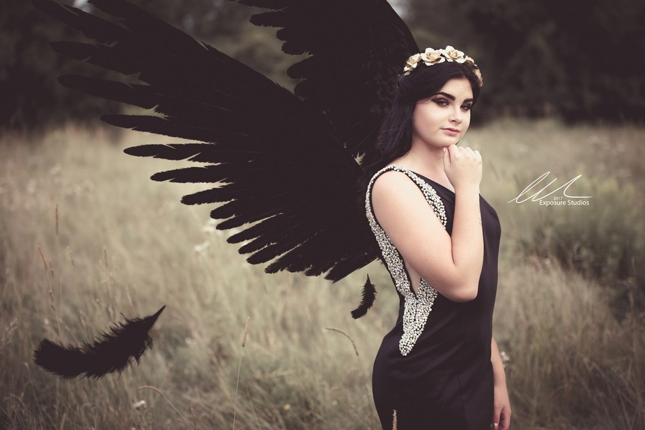 I had a vision to do a 'dark' photoshoot. Something edgy, moody. I have a raven...