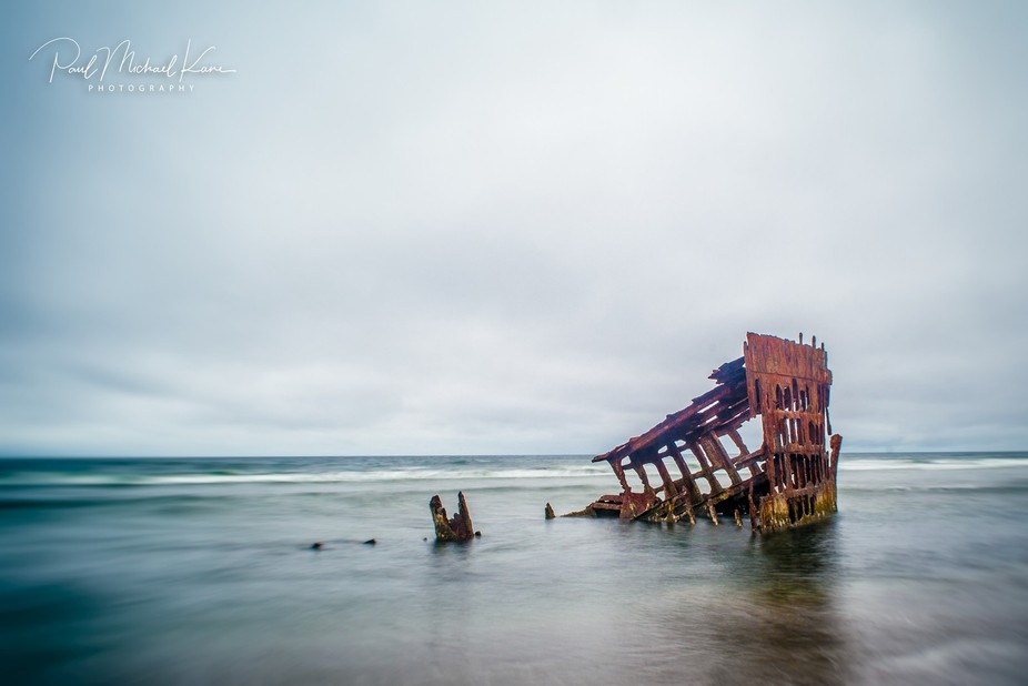 Peter Iredale was a four-masted steel barque sailing vessel that ran ashore October 25, 1906, on ...