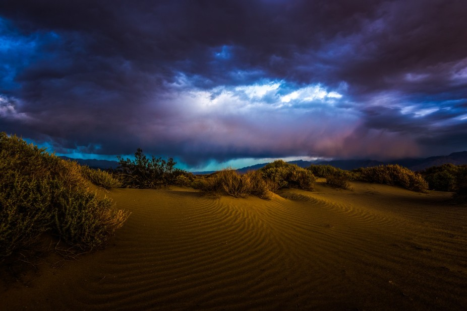 Taken behind Stovepipe Wells Campground Death Valley National Park. There was a storm approaching...