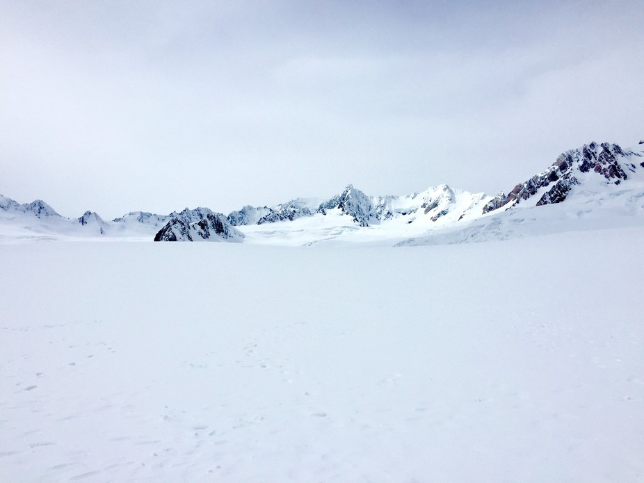 After a quick helicopter flight we set down on Foxes Glacier in Frans Josef on NZ west coast of t...