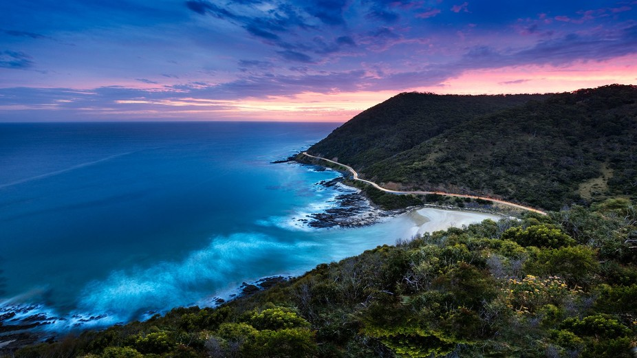 I captured this sunset photo a while ago at Teddy's Lookout near Lorne, about 2 hours dr...