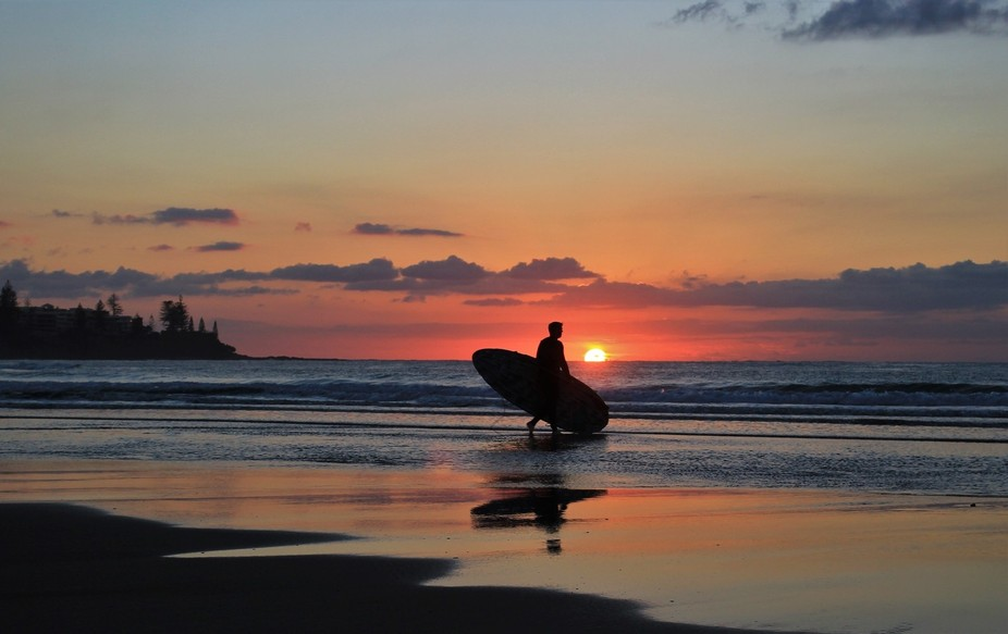 Surfs up on the Sunshine Coast, Australia, and why not! Nature provides the most beautiful backdrop.