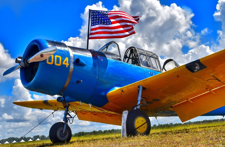 2nd version of this plane, flag more open and little less crop. 2017 Florida International Air Sh...