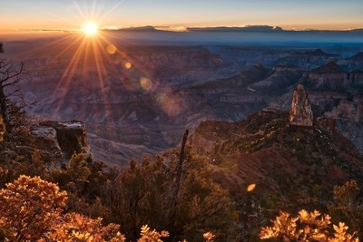 Sunrise over Grand Canyon at the North Rim