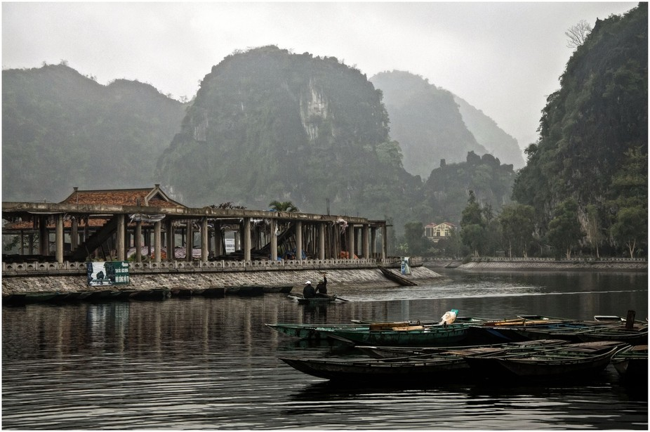 Boats and mountains in Vietnam