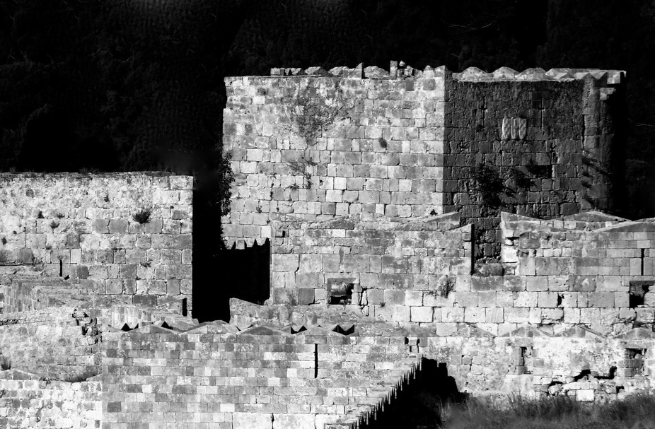 Ruins in Rhodes , Greece. Ohh if only these walls could speak.