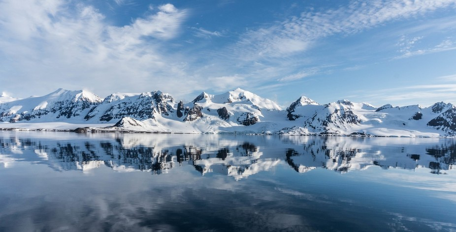 Taken during the midnight sun on a mountaineering trip to Svalbard, the weather finally cleared t...