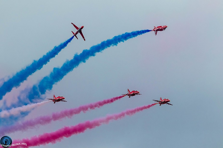 Another RAF Red Arrows photo that I took this Summer during the Wales Air Show. Hope you enjoy it...