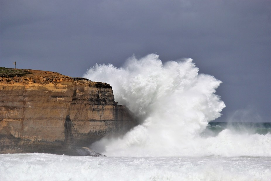 Massive swell on these massive cliffs can only be described as awesome