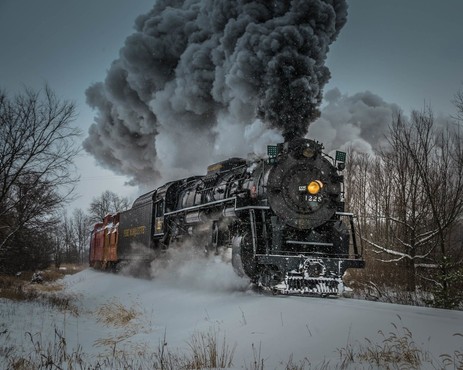 """This is the steam train that was used in the movie, """"The Polar Express"""".  Fortu..."""