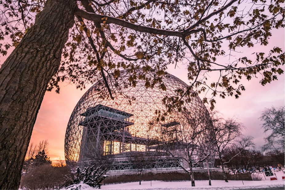 Montreal Biosphere during a perfect sunrise!