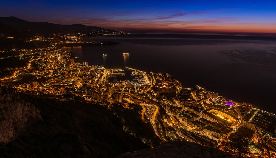 Monaco before sunrise...