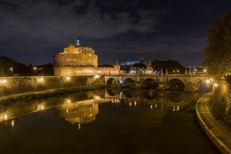 The wonderful landscape of Castel Sant Angelo in Rome