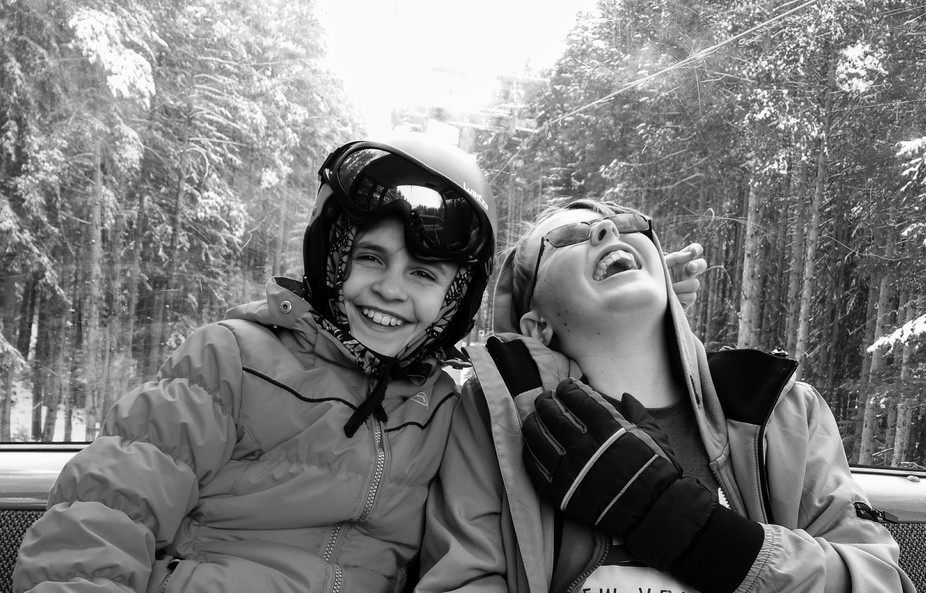 Laughter and love between brother and sister