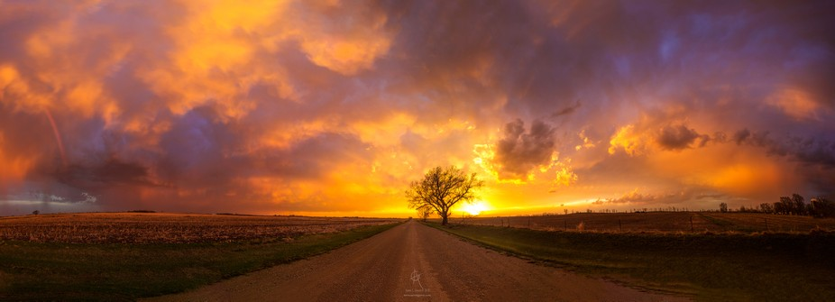 Sunset from inside the storm. Taken April 30th 2018 8:36 pm South of Mitchell, South Dakota. Cano...