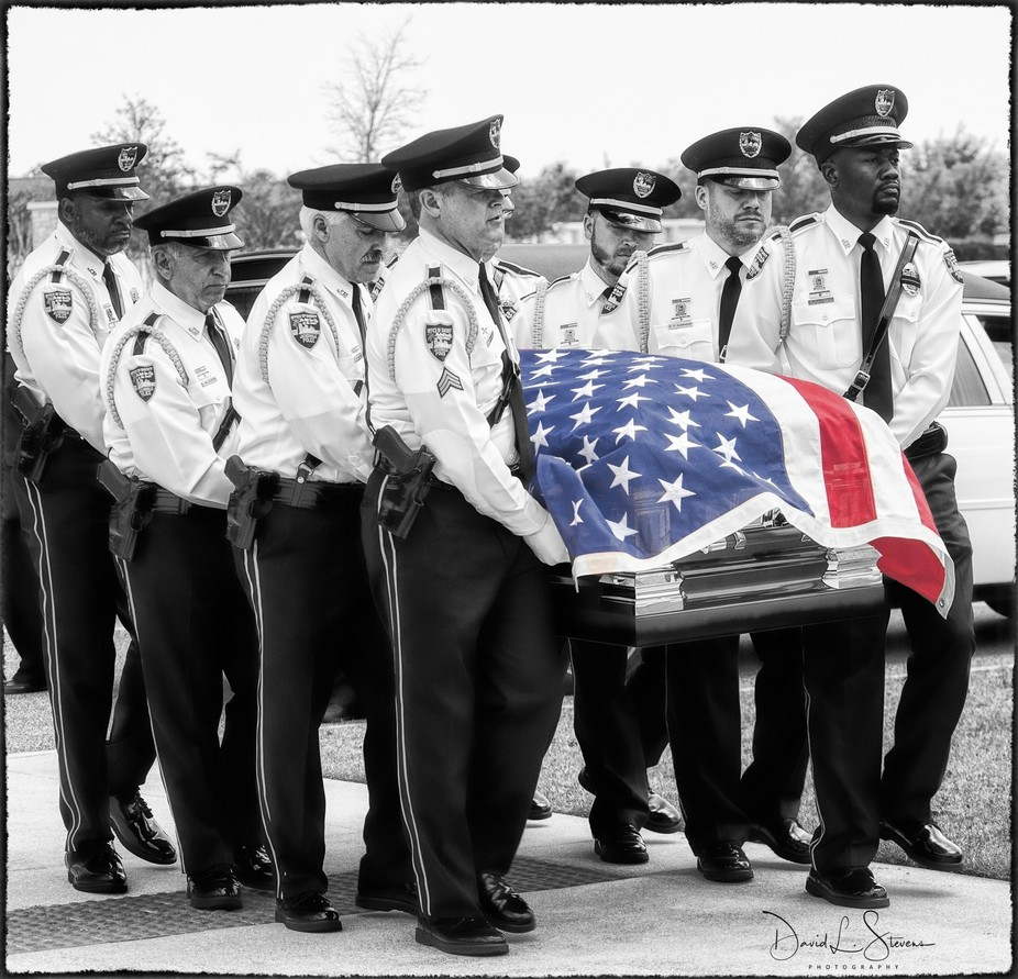 Police officer laid to rest.