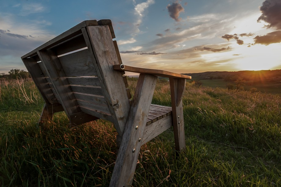 This bench over looking the Broken Kettle Grasslands Preserve in NW Iowa is indeed the best seat ...